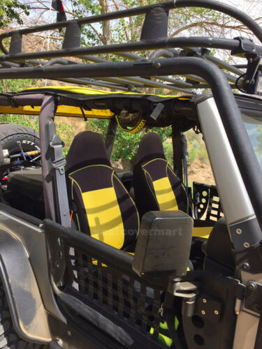 Yellow Neoprene Custom Seat Covers Full Set for Jeep TJ 1997-02