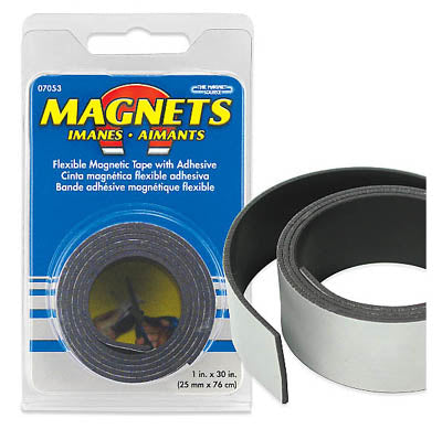 MAGNET TAPE FLEXIBLE 1INX30IN WITH ADHESIVE