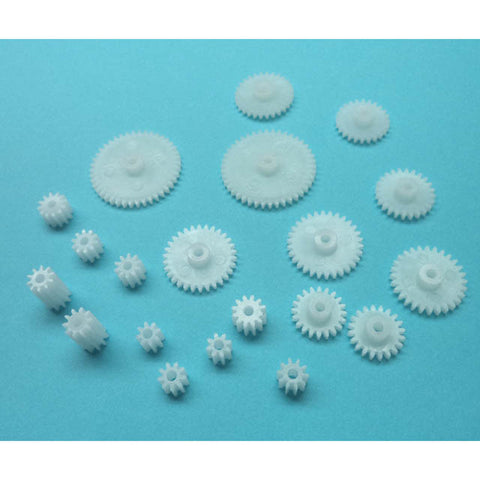 GEAR MOTORIZING PINION SET FOR 2MM SHAFT 20PCS ASSORTED