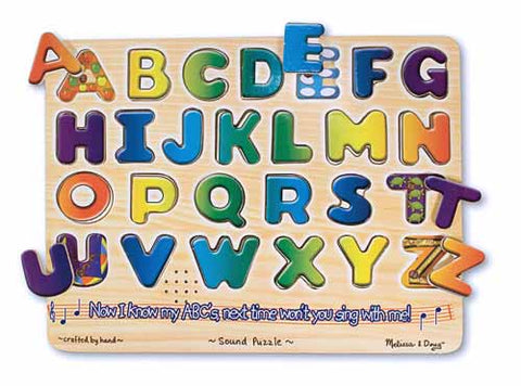 ALPHABET SOUND PUZZLE-AGES 3+ 2 AAA BATTERIES REQUIRED