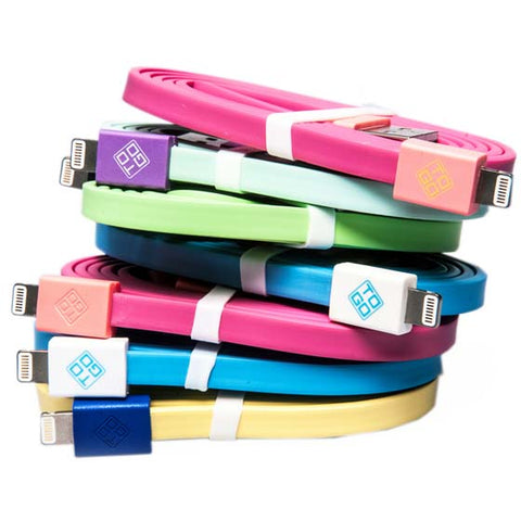 USB CABLE A MALE TO LIGHTNING 8P 3FT ASSORTED COLOR MFI CERTIFIED