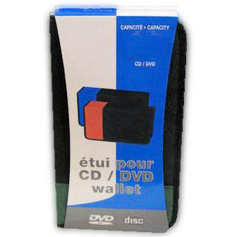 CD/DVD WALLET HOLDS UPTO 48CDS