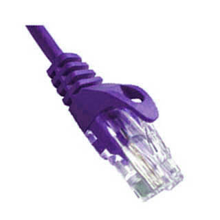 PATCH CORD CAT5E PURPLE 3FT SNAGLESS BOOT
