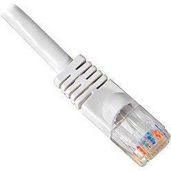 PATCH CORD CAT6 WHITE 100FT SNAGLESS BOOT