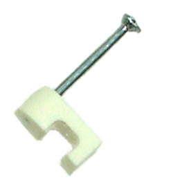 CABLE CLAMP TELEPHONE WITH NAIL 5MM WHITE