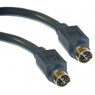S-VIDEO CABLE MINI DIN 4M/M 100F 100FT GOLD BLUE
