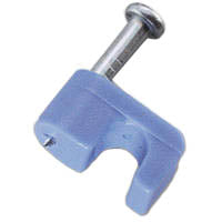 CABLE CLAMP F 7.5MM BLUE W/NAIL
