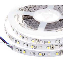 LED FLEXIBLE STRIP WHITE 12V 5M WATERPROOF IP65 3528 SMD 12V@2A