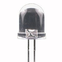 LED10 WATERCLEAR RED 400MCD 2.4V 20MA