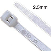 CABLE TIE NAT 5.5IN 18LB WIDTH 2.5MM