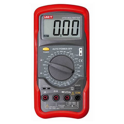 MULTIMETER DIGITAL 20A AUTO PWR CAPACITANCE/TEMP/DIODE/TRANS
