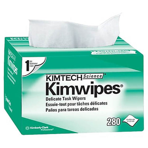 WIPES SINGLE PLY 4.4X8.4IN DELICATE TASK WIPERS 280PCS/BOX