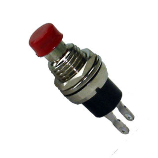 PUSH SWITCH MOM 1P1T NC THR SOL 7MM RED CAP