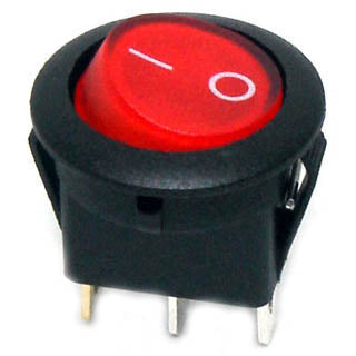 ROCKER SWITCH LIT 1P1T 16A ON- OFF 12VDC QT 20MM HOLE ACTU RED