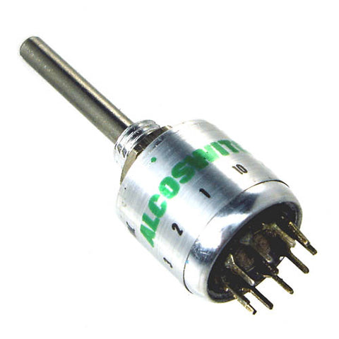 ROTARY SWITCH 1P10T NON-SHORTING PCST LONG SHAFT
