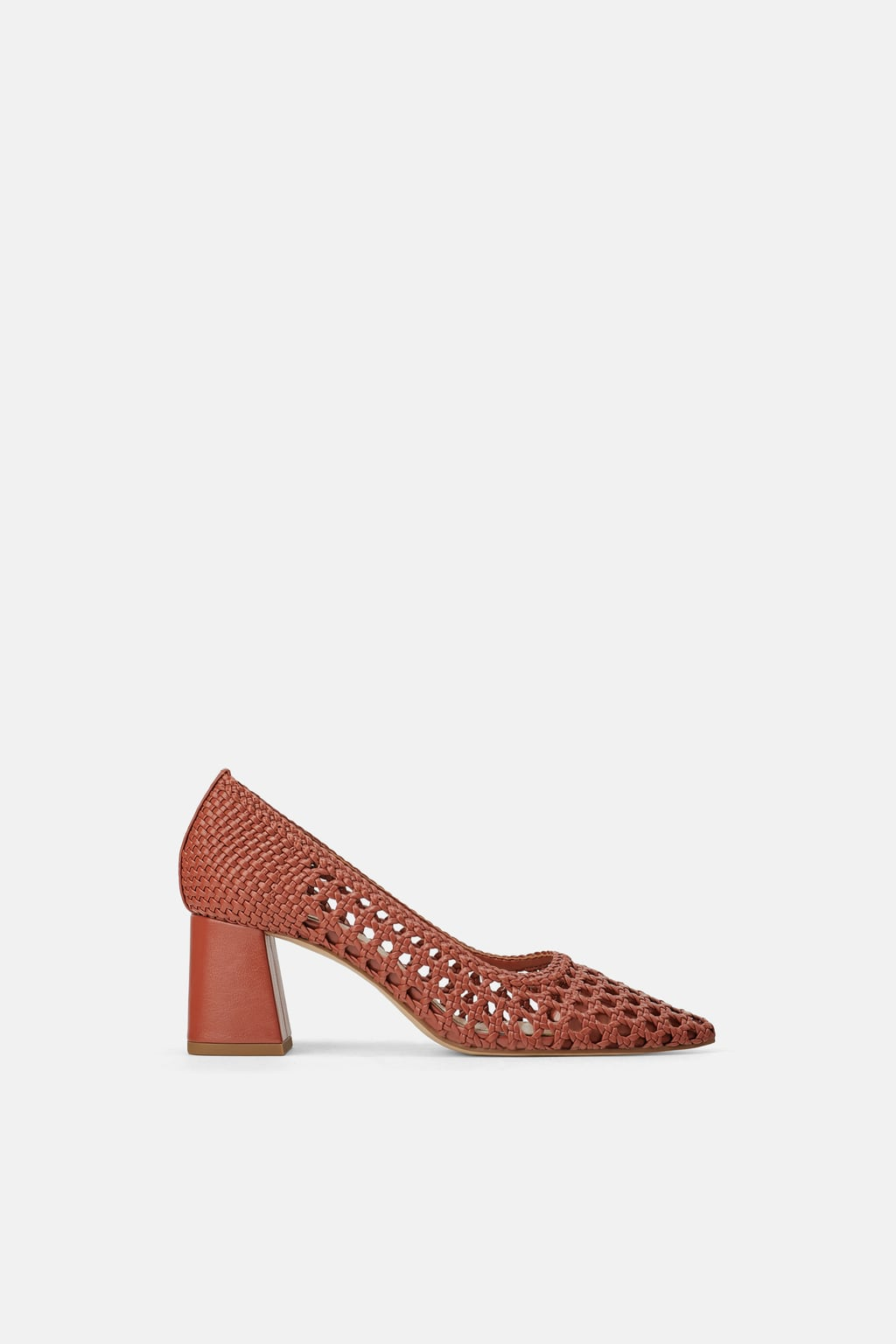 ZARA BRAIDED BLOCK HEELS