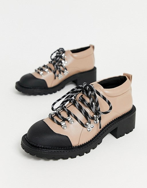 ASOS BIEGE MONITOR HIKER  SHOES