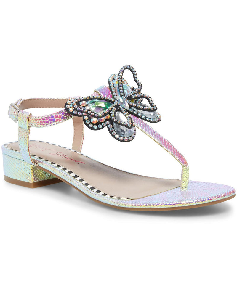 BETSEY JOHNSON IRIDESCENT SANDALS