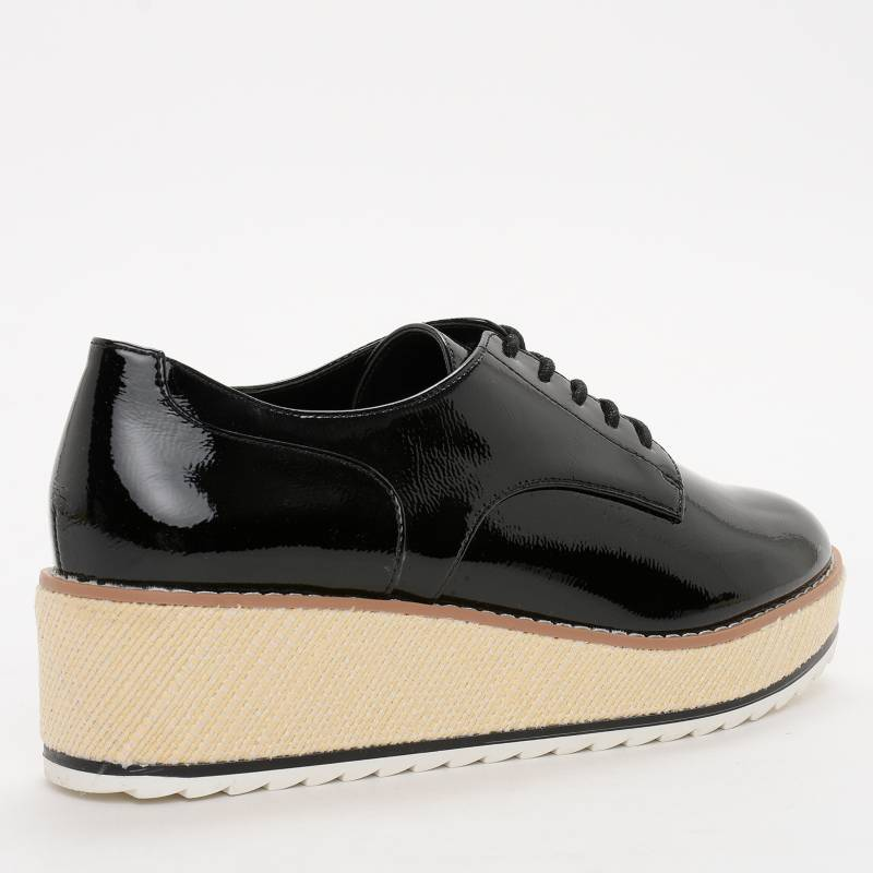 CALL IT SPRING BLACK PATENT PLATFORM BROGUES