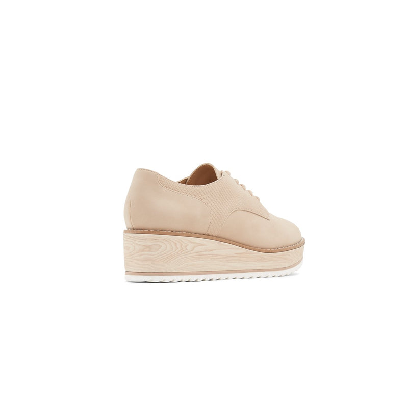 CALL IT SPRING NUDE MATTE LEATHER PLATFORM BROGUES
