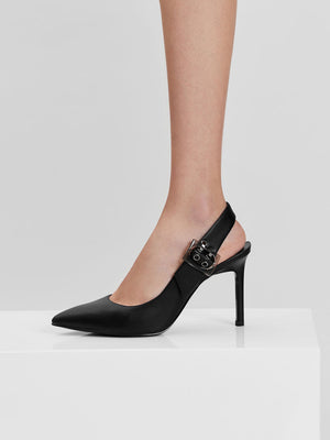 CHARLES & KEITH OVERSIZED BUCKLE SLINGBACK