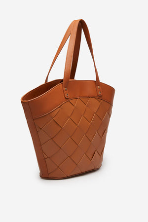 CORTEFIEL TOBACCO BASKET BAG