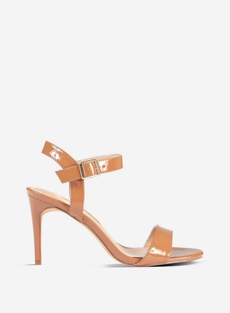 DOROTHY PERKINS CAMEL SOHO HEELED SANDALS