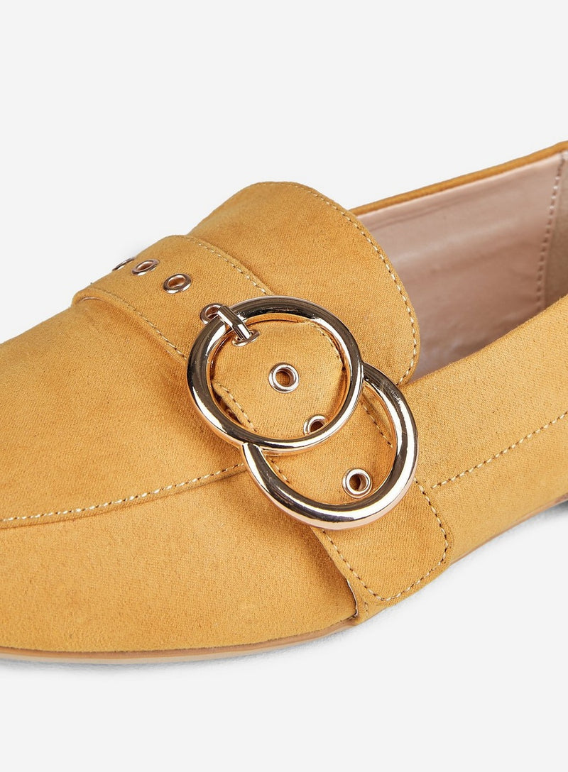 DOROTHY PERKINS LOLA LOAFERS IN OCHRE