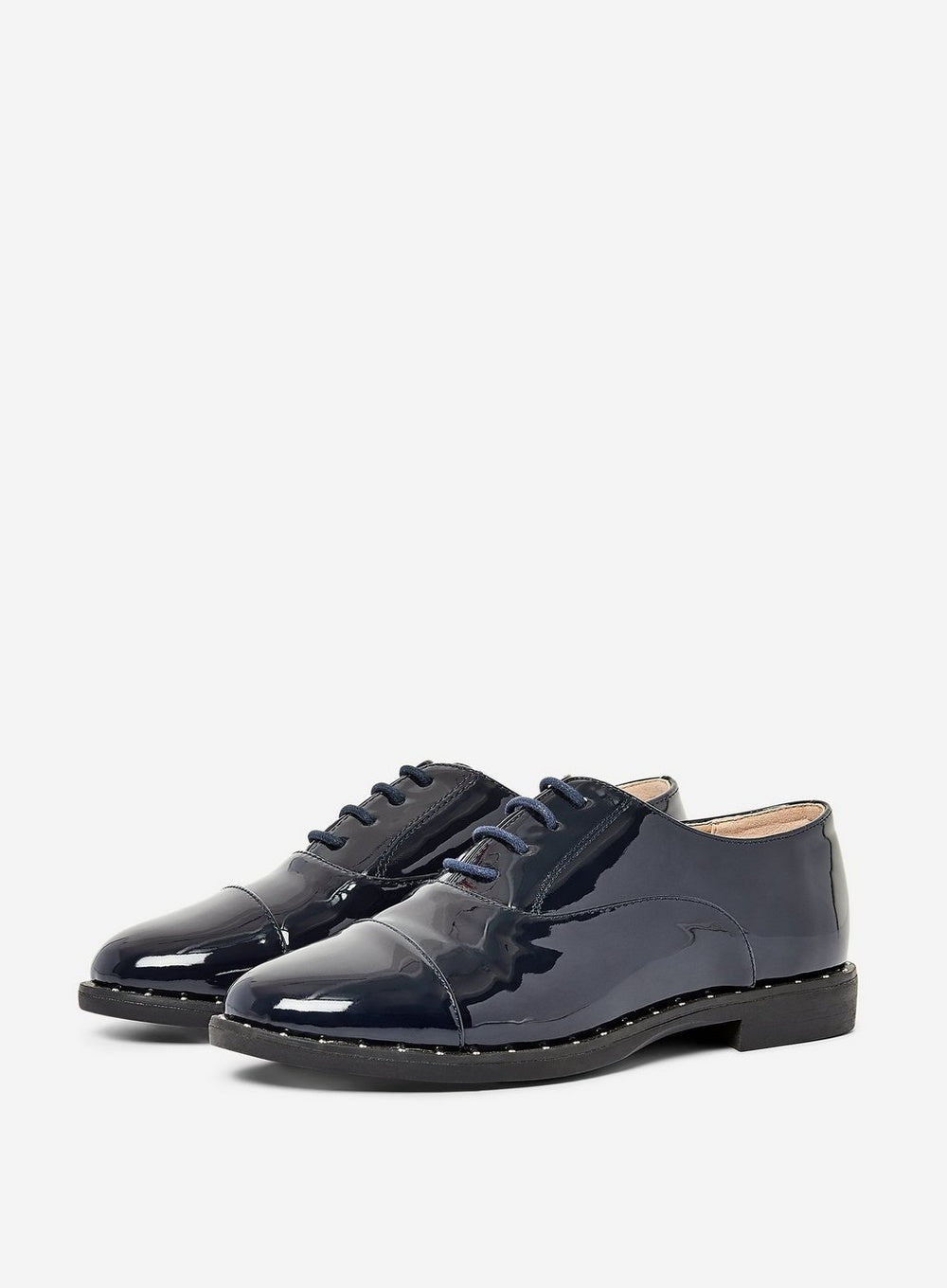 DOROTHY PERKINS NAVY LIMERICK LACE-UP BROGUES
