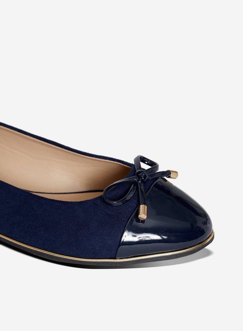 DOROTHY PERKINS NAVY PINE FLAT SHOES