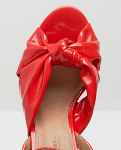 ASOS KNOT DETAIL RED HEELS