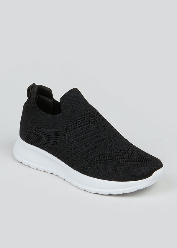 PAPAYA BLACK SLIP-ON TRAINERS