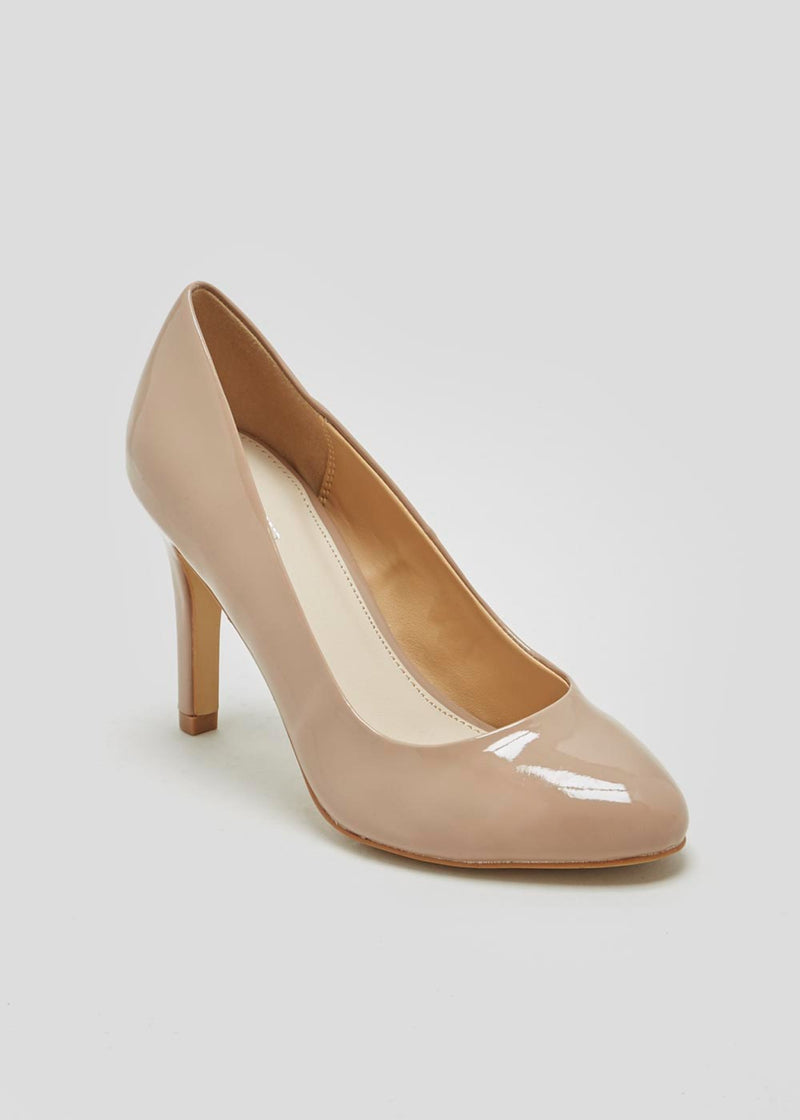 PAPAYA NUDE ROUND TOE COURT SHOES
