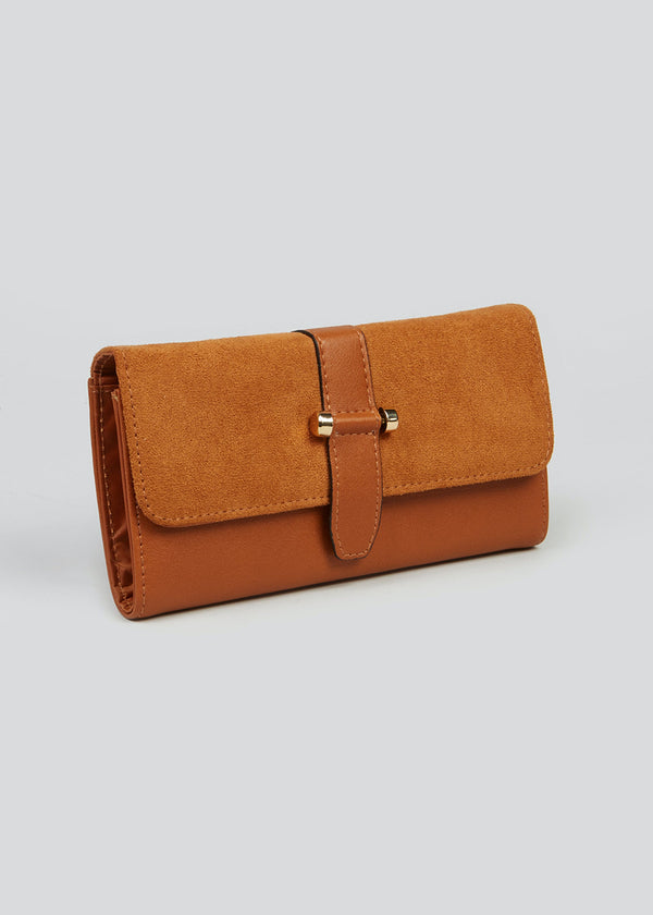 PAPAYA TAN SUEDETTE PURSE