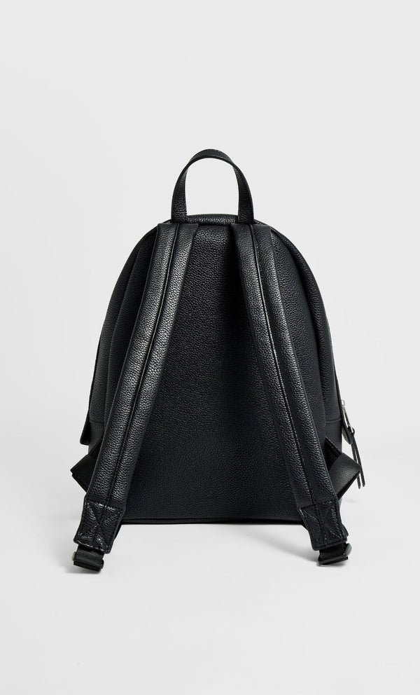STRADIVARIUS BLACK DOUBLE ZIP BACKPACK