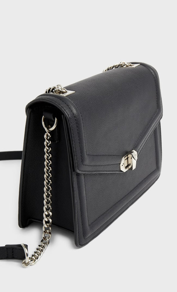 STRADIVARIUS MINI CROSSBODY BAG WITH CLASP AND CHAIN STRAP