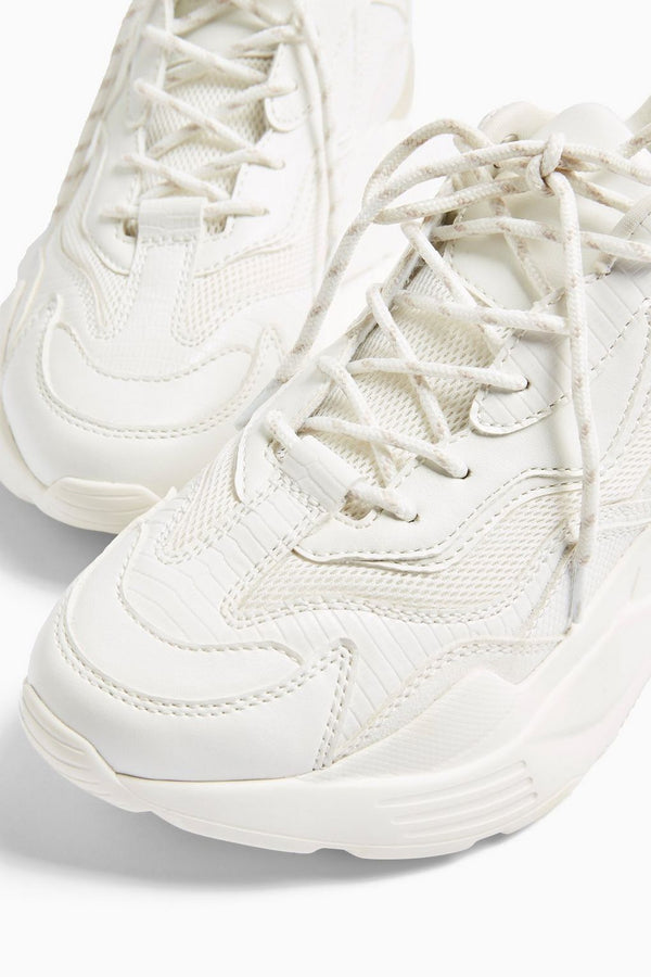 TOPSHOP CANCUN WHITE CHUNKY TRAINERS