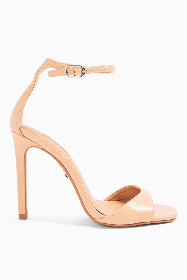 TOPSHOP VSILVY BEIGE SKINNY TWO PART HEELS
