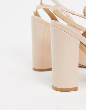 TRUFFLE COLLECTION POINTED BLOCK HEELED