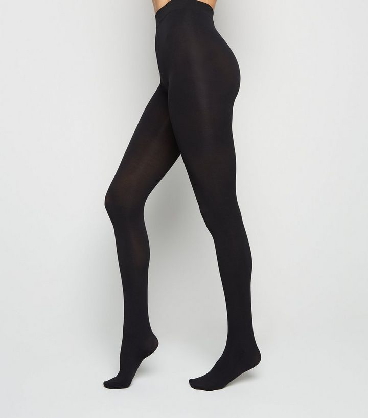 NEW LOOK CURVE BLACK 100 DENIER LUXURY STRETCH TIGHTS