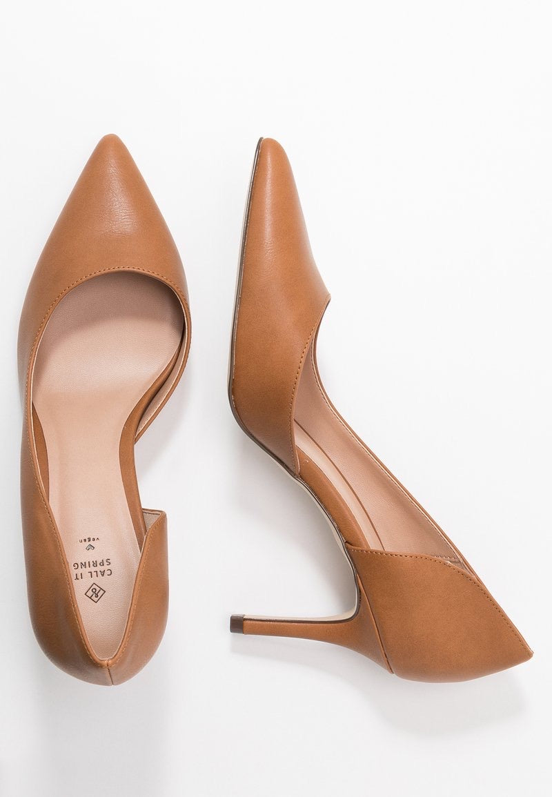 CALL IT SPRING COGNAC D'ORSAY POINTED TOE PUMP