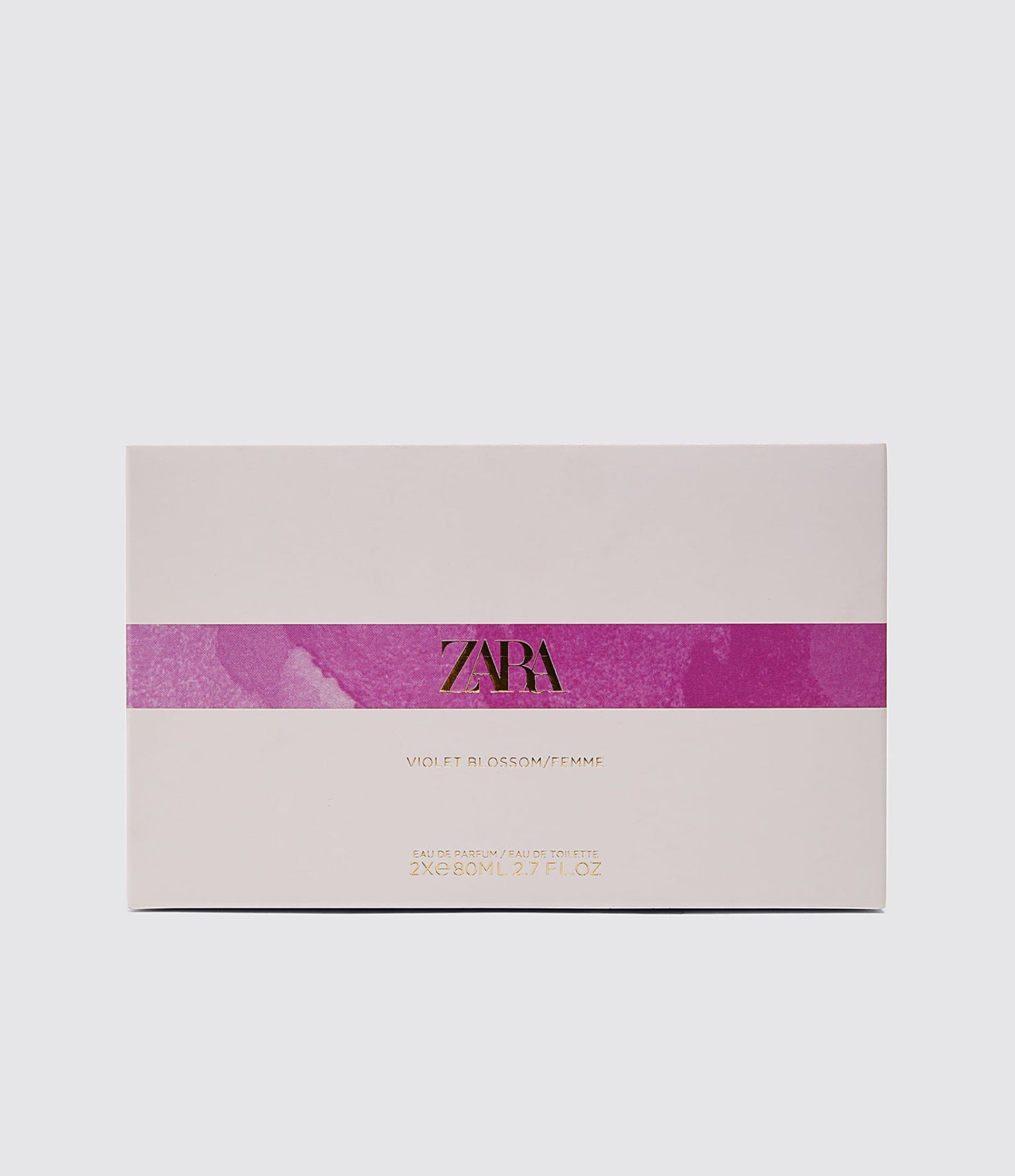 ZARA VIOLET BLOSSOM + FEMME TINTED LEATHER PERFUME 80ML X 2