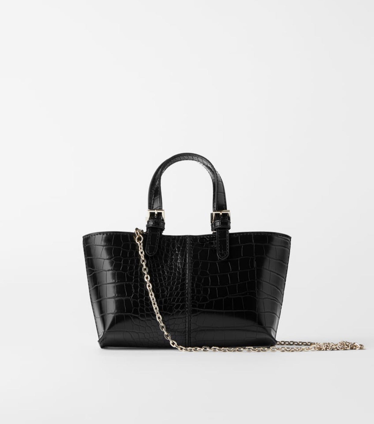 ZARA ANIMAL PRINT MINI TOTE BAG