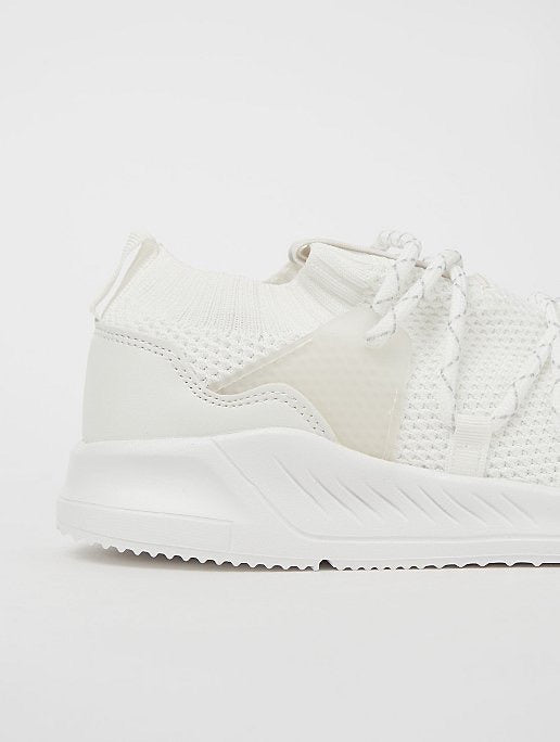 GEORGE CREAM MESH SPORTS TRAINERS