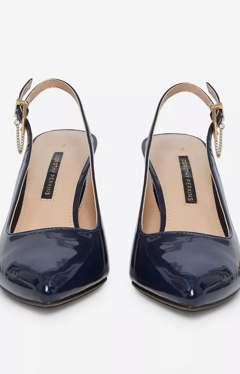 DOROTHY PERKINS NAVY EVERLYN COURT SHOES