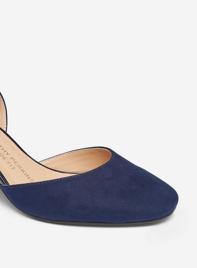 DOROTHY PERKINS NAVY DIVA COURT SHOES