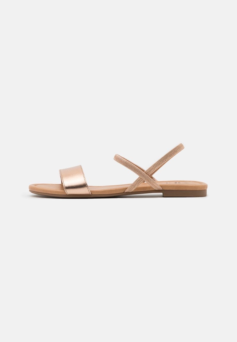 CALL IT SPRING ROSEGOLD SLINGBACCK FLAT SANDALS