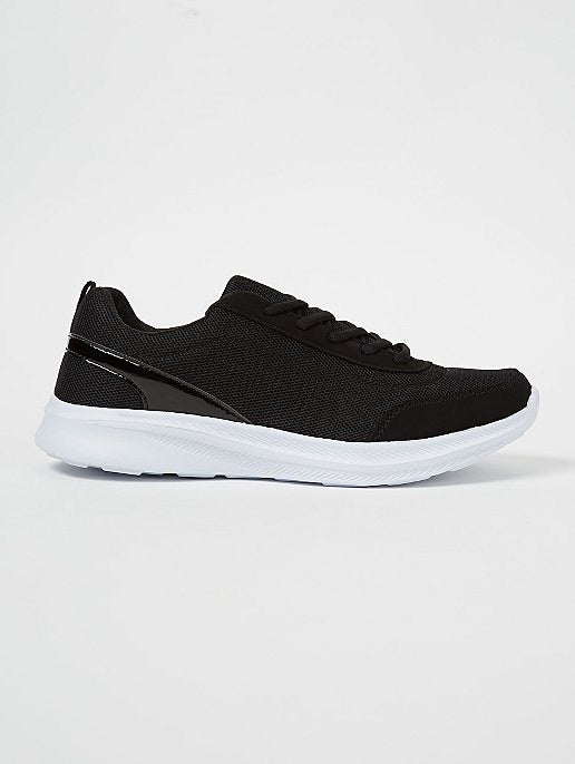 GEORGE BLACK MESH TRAINERS