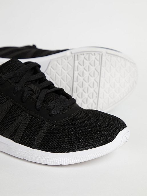GEORGE BLACK MESH LACE-UP TRAINERS