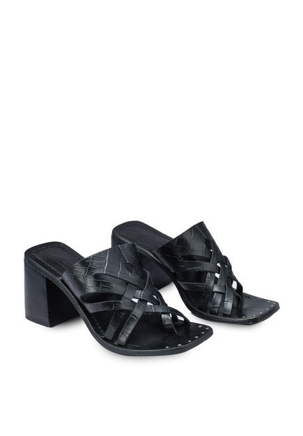 TOPSHOP VICE BLACK CUT-OUT MULE